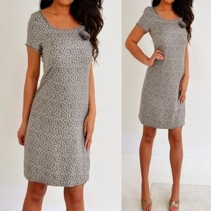 J. Crew Taupe Gray Silk Short Mini Dress 4 S
